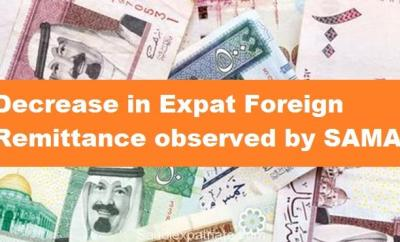 Decrease in Expat Foreign Remittance observed by SAMA-Saudiexpatriate.com