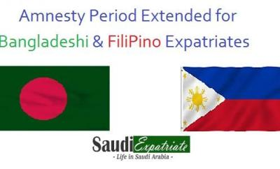 Good News for Bangladeshi & FiliPino Expats - Amnesty Period Extended-SaudiExpatriate.com