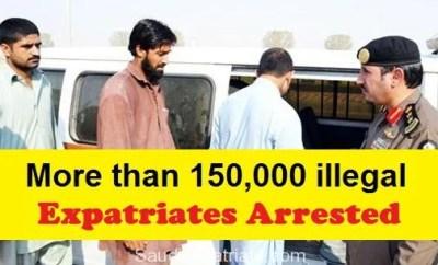 More than 150,000 Expatriates Arrested in KSA-SaudiExpatriate.com