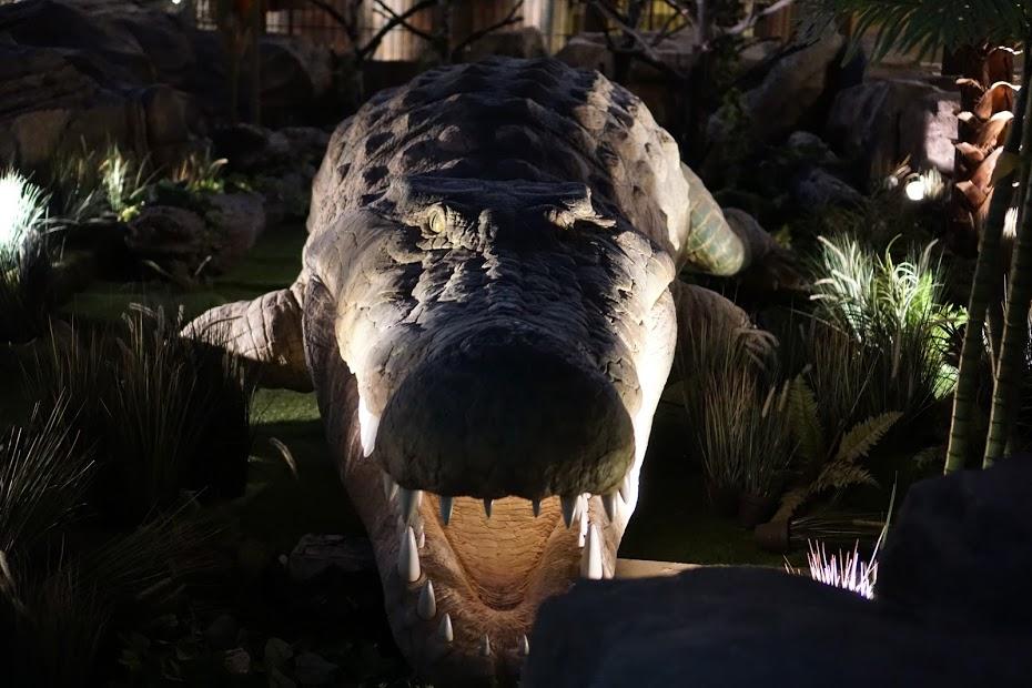 Milžiniškas iš vandens išnyrantis krokodilas