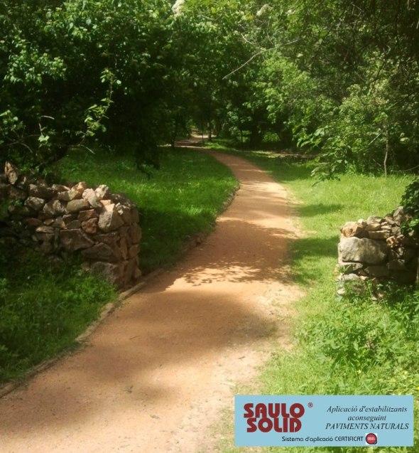 Camins de terra SAULO SOLID per jardins