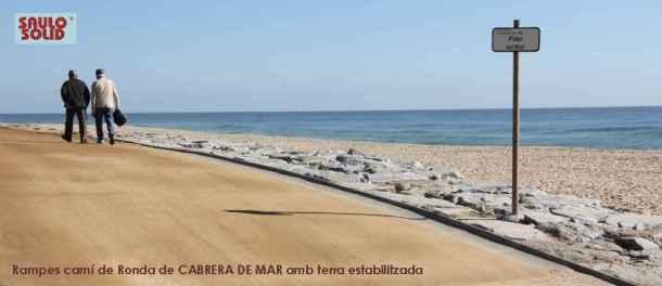 Rampa SAULO SOLID camí de ronda Cabrera de Mar
