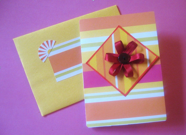 Ribbon Flower cards (3/3)