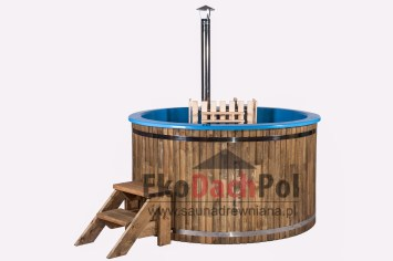 Blue fiberglass hot tub with internal heater_2