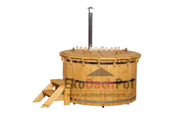 Deluxe pine hot tub with internal heater_3