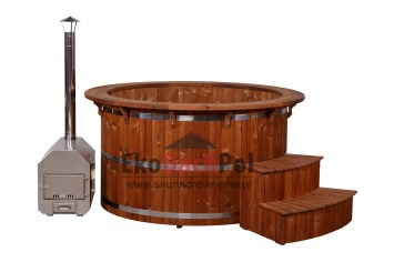 Royal thermowood hot tub with external heater_2