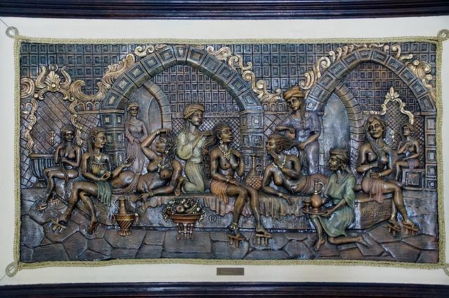 hammam skulptur wand dekoration