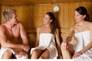 Erektion in der Sauna vermeiden