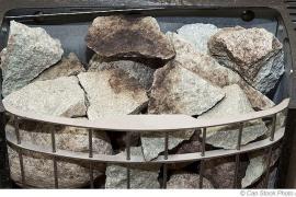 Der Bedarf und die Abnutzung der Saunasteine