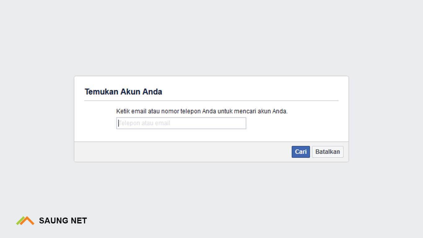 Cara Mengatasi Lupa Kata Sandi Facebook Menggunakan no hp