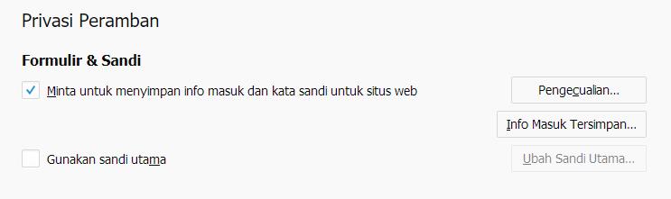 Privasi Pramban Mozila Firefox