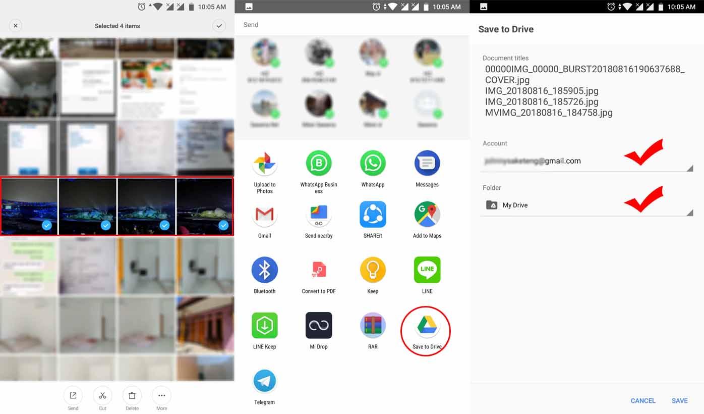 Cara Manual Menyimpan Foto dan Video ke Google Drive