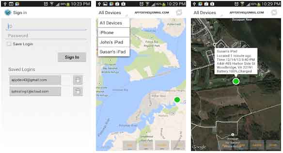Find iPhone, Android Devices, xf