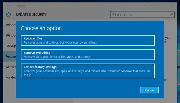 Instal Ulang Windows 10 Via Desktop