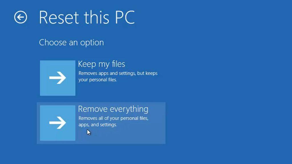 Refresh Windows 10 Via Boot Menu