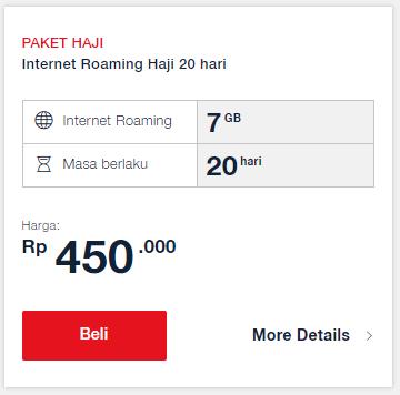 Paket Haji Telkomsel: Internet Roaming Haji 20 Hari