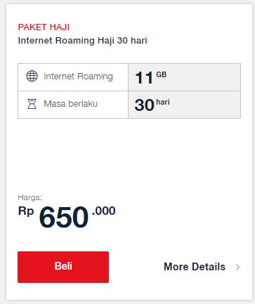 Paket Haji Telkomsel: Internet Roaming Haji 30 Hari