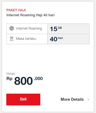 Paket Haji Telkomsel: Internet Roaming Haji 40 Hari