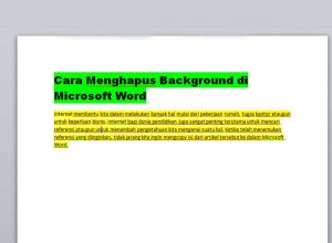 Cara Menghilangkan Background di Microsoft Word