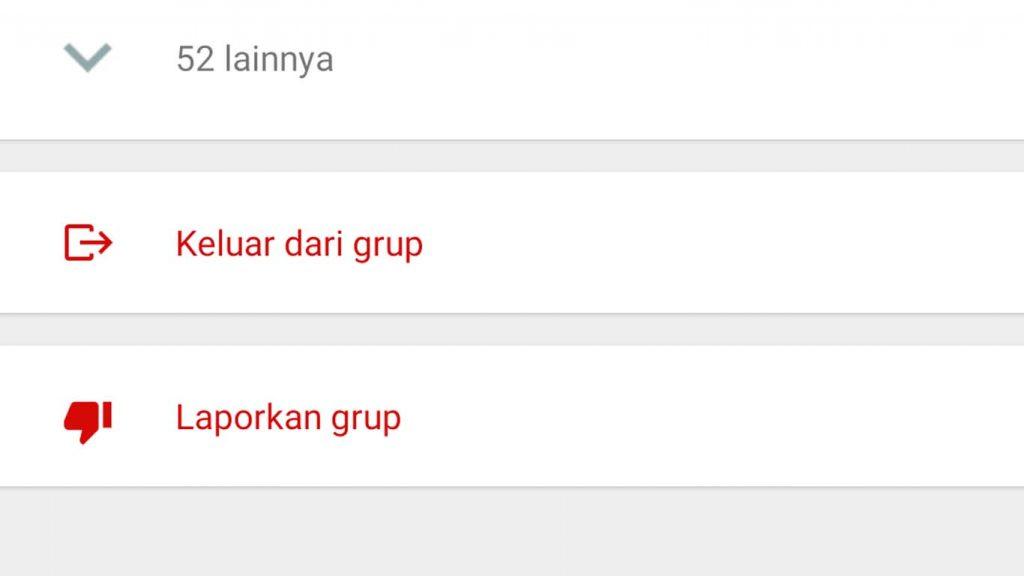 Keluar dari grup WhatsApp