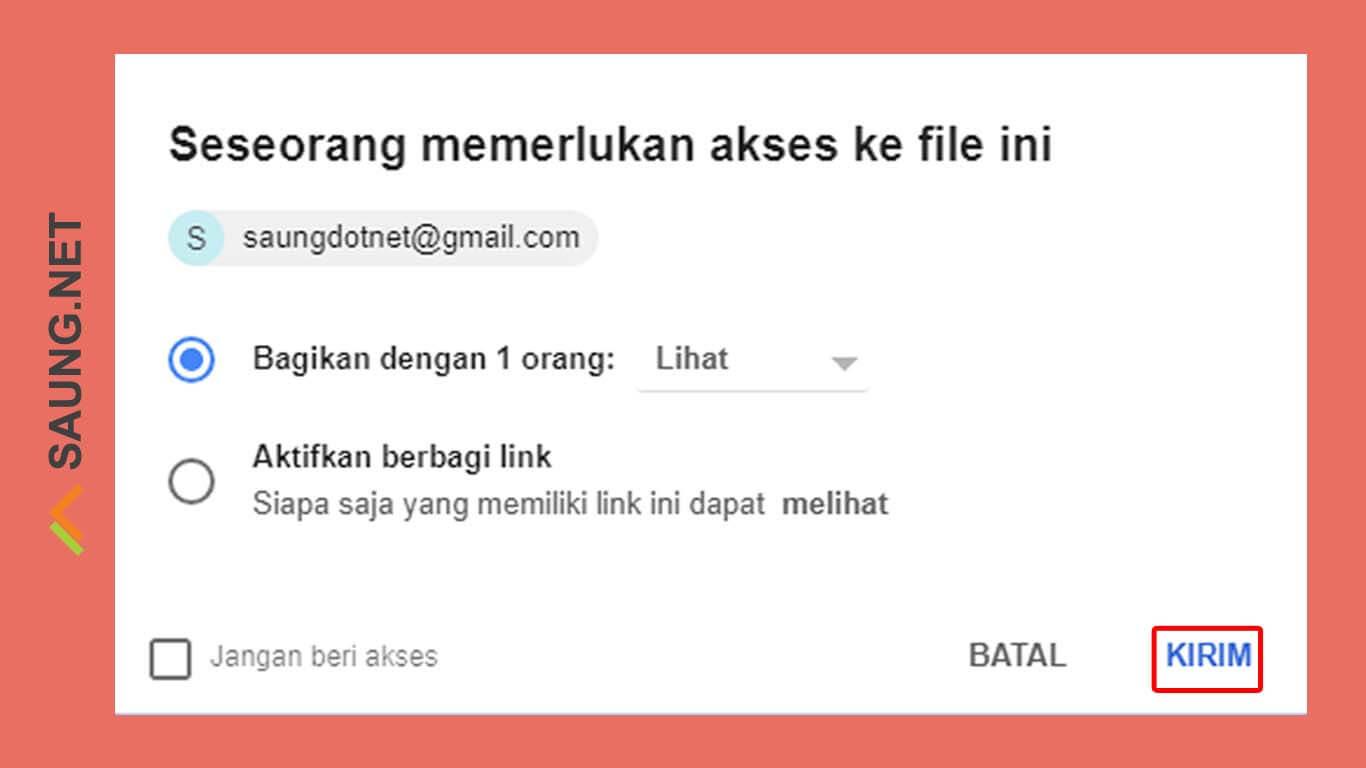 cara mengirim file besar lewat email di android