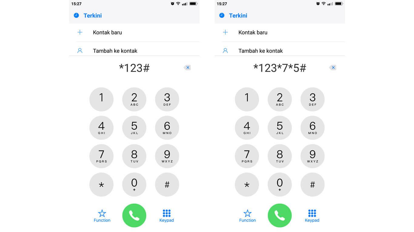 cara mengecek nomor telepon