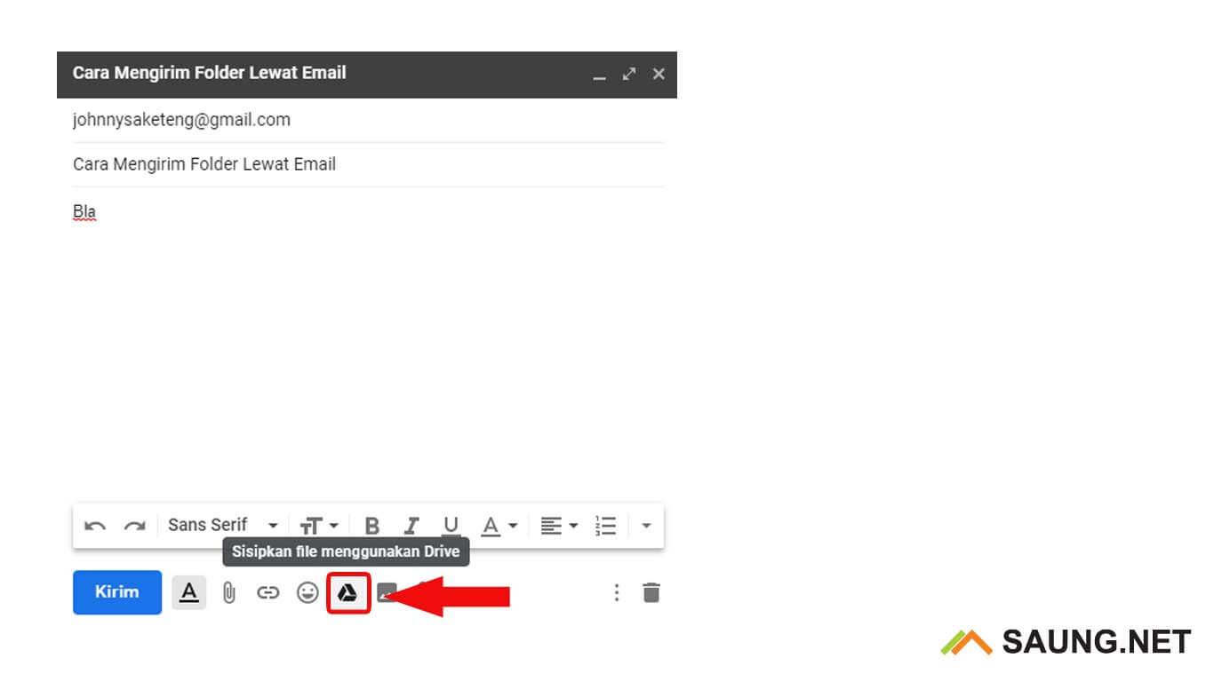 cara mengirim folder lewat google drive