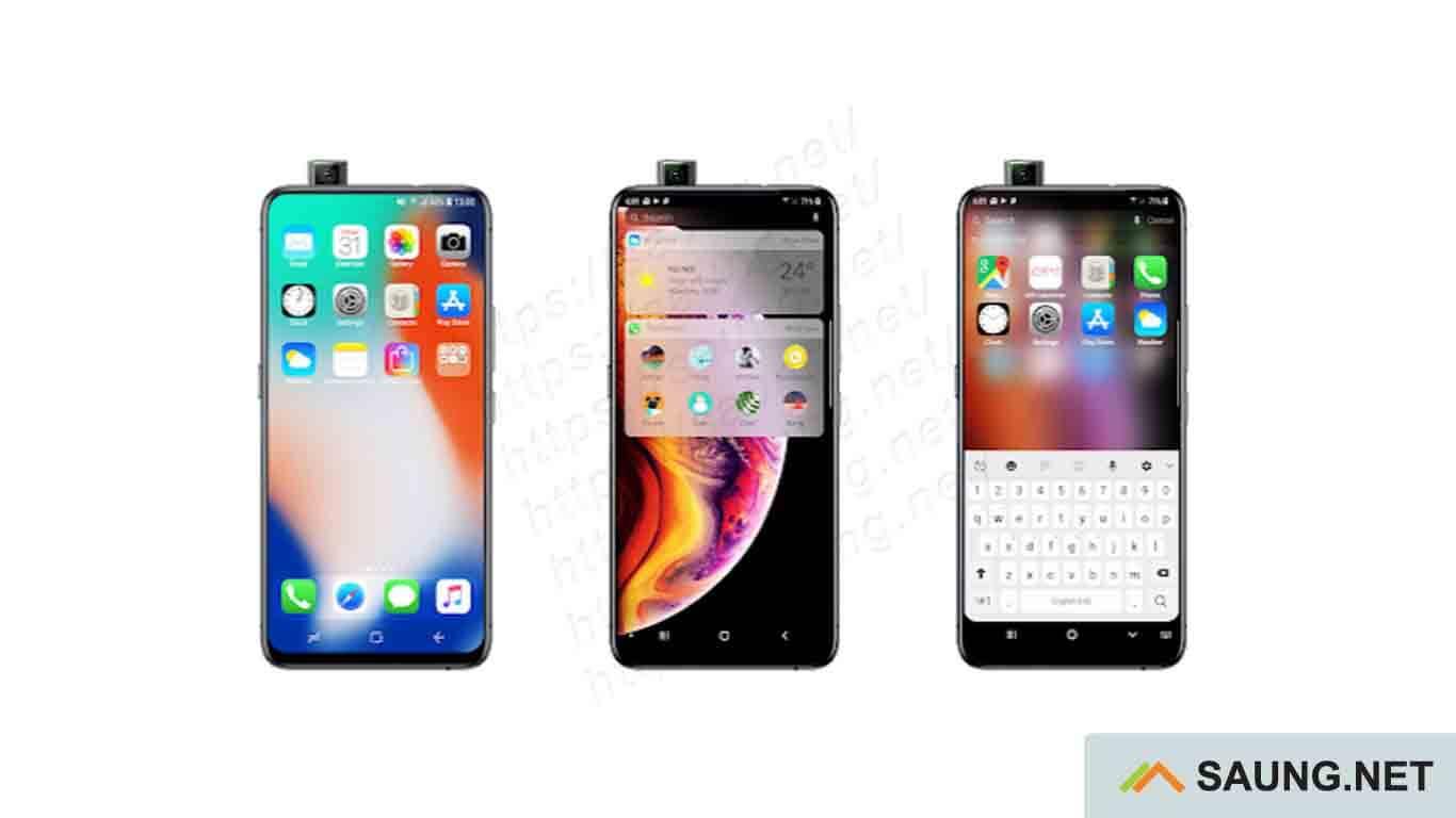 Peluncur iOS 13 - tampilan iphone