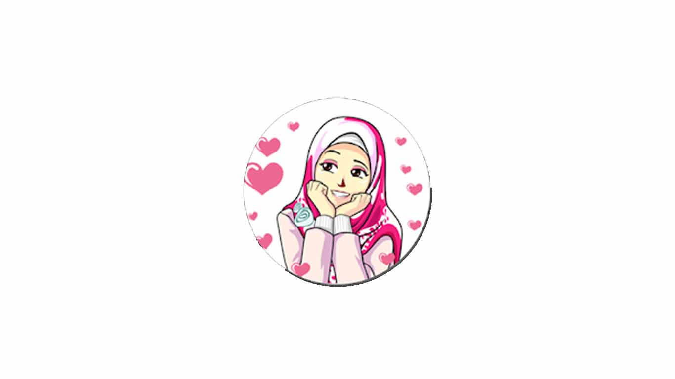Sticker Hijab Cewek Cantik