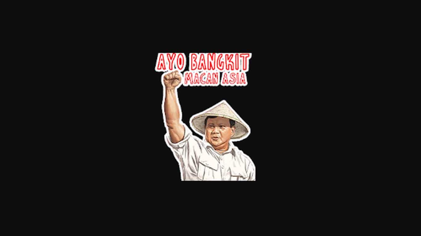 Sticker Prabowo Sandi