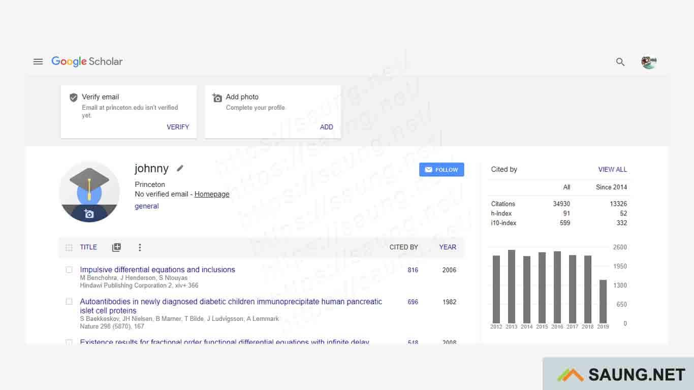 google scholar login