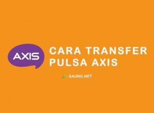 cara bagi pulsa axis