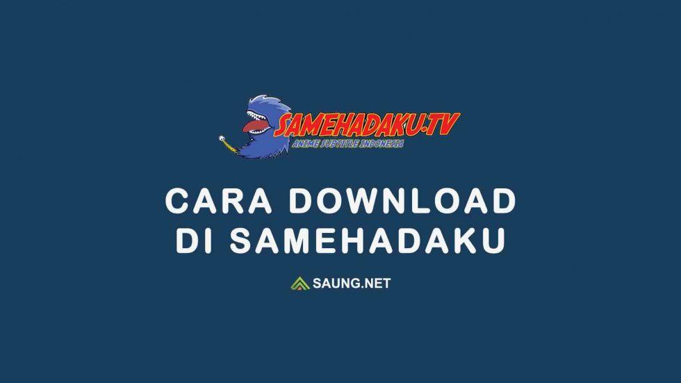 cara download di samehadaku