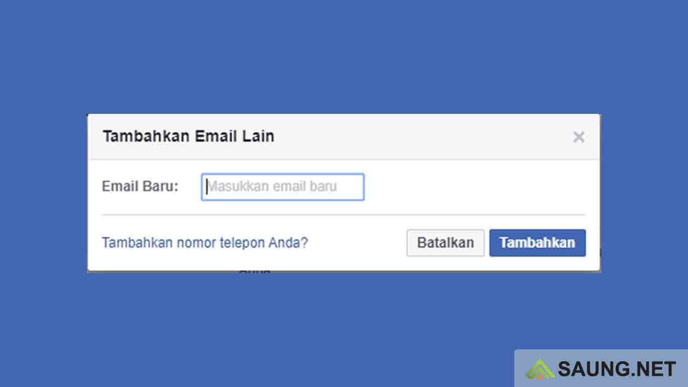 cara mengganti email utama facebook