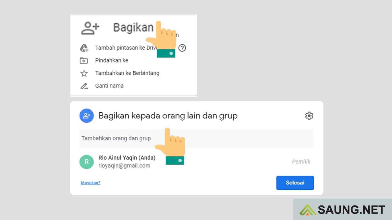cara membuat google drive yang bisa diakses semua orang