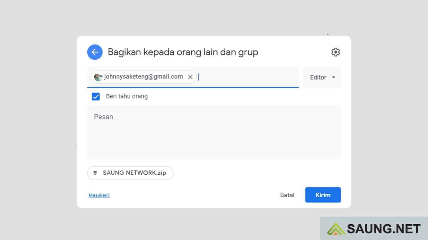 cara menyimpan link di google drive