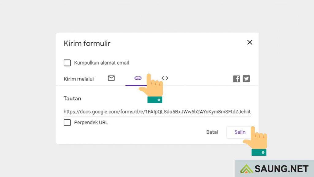 cara membuat bitly google form