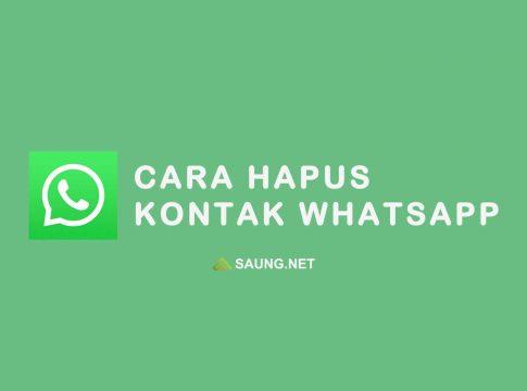 cara menghapus kontak di whatsapp