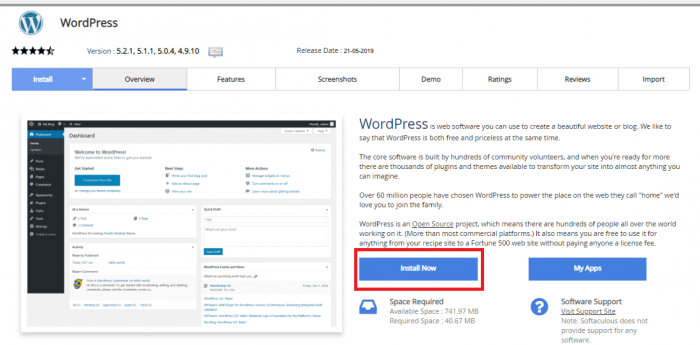 Pemasangan wordpress di cpanel hosting