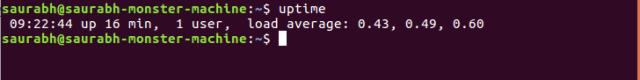 Uptime output