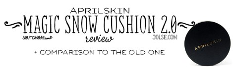 Review (acne skin): April Skin Magic Snow Cushion 2.0
