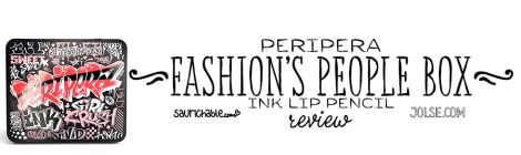 Review: Peripera Fashion's People Box Ink Lip Pencil