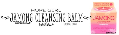 Review: Hope Girl Jamong Cleansing Balm