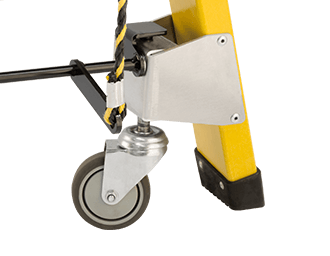 Lever Actuated Castors for ladder