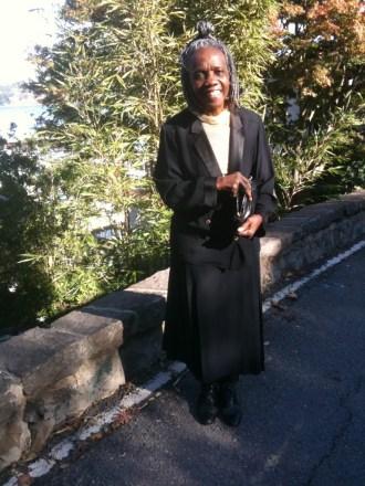 Arundhati on her way to church IMG_0109