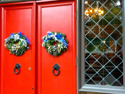 red-doors-and-tree-in-window-christmas-eve-2016