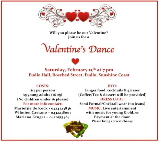 Invite to ValentinesDance 2014