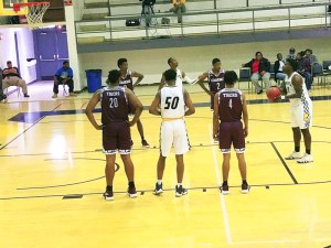 male players shooting