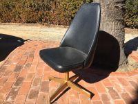 Mid-Century Modern Cal-Style Furniture Black Naugahyde ...