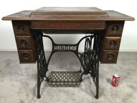 Antique 1911 Singer Treadle Sewing Machine With Cabinet ...